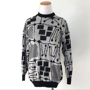 Vintage Graphic Print Sweater Small